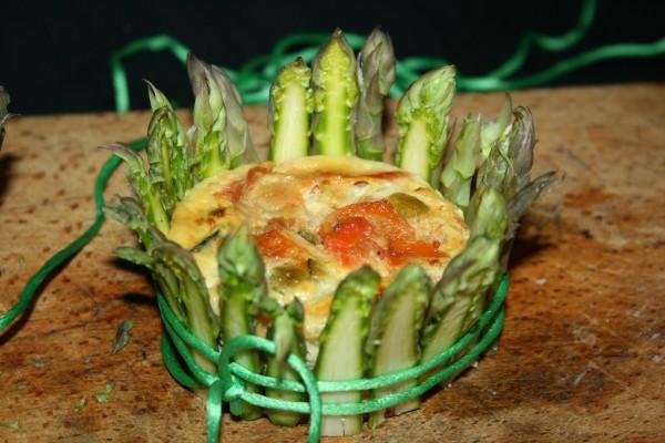 corona di asparagi