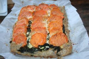 torta cavolo nero e patate dolci