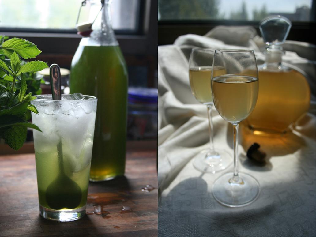 Sciroppo di menta e Liquore al miele
