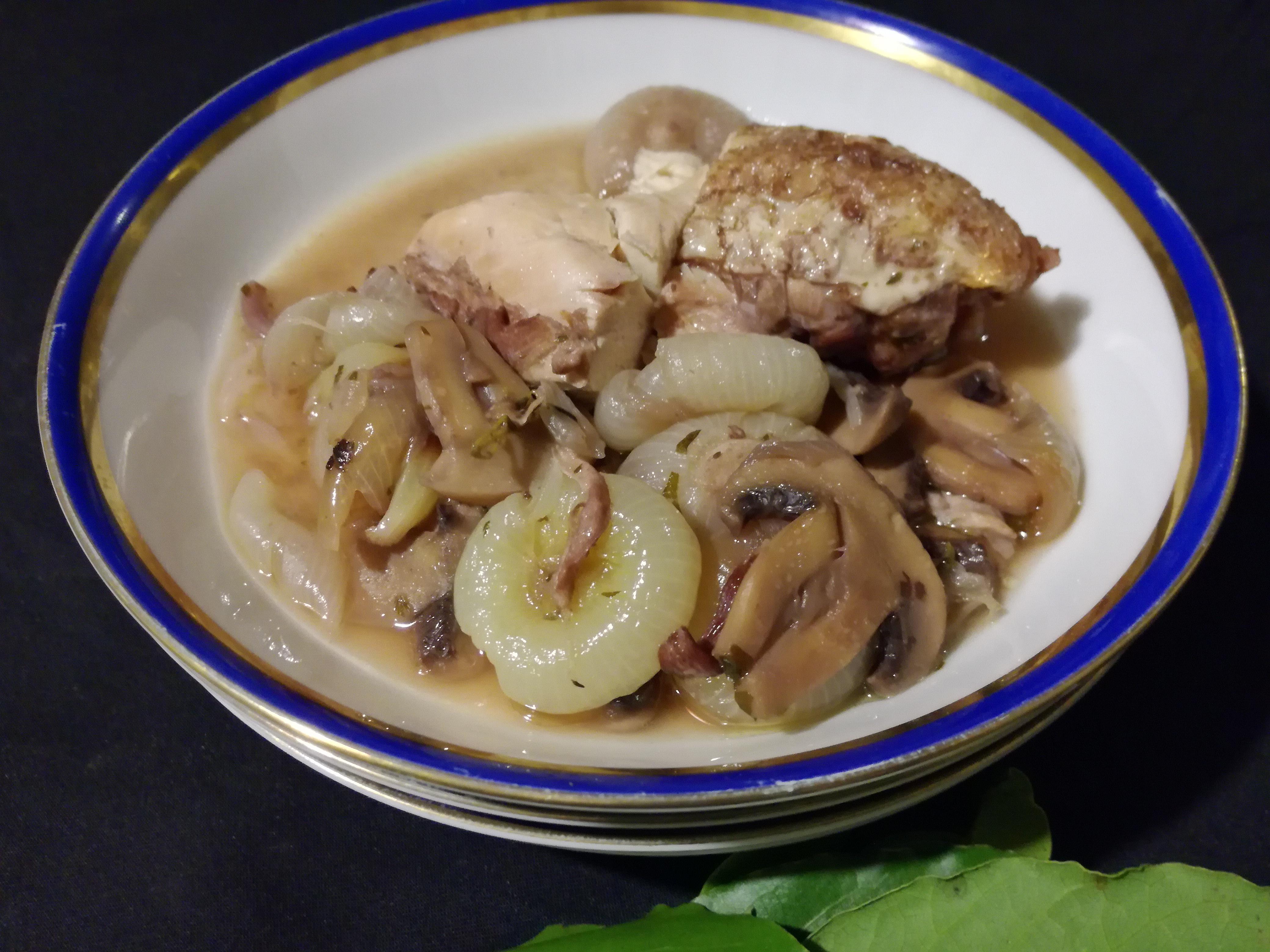 Pollo al vino o Coq au vin di Giuliana