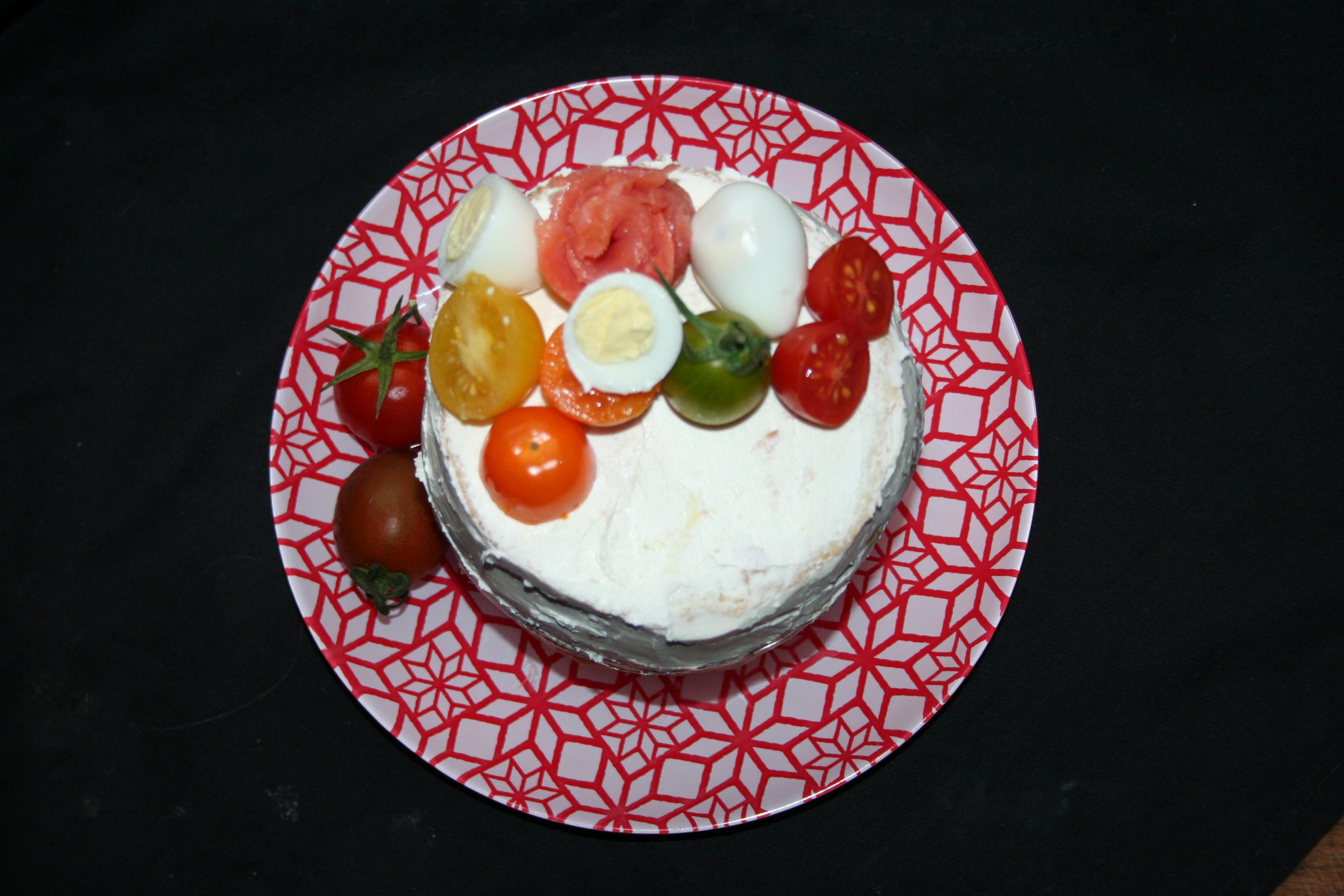Torta a strati salata