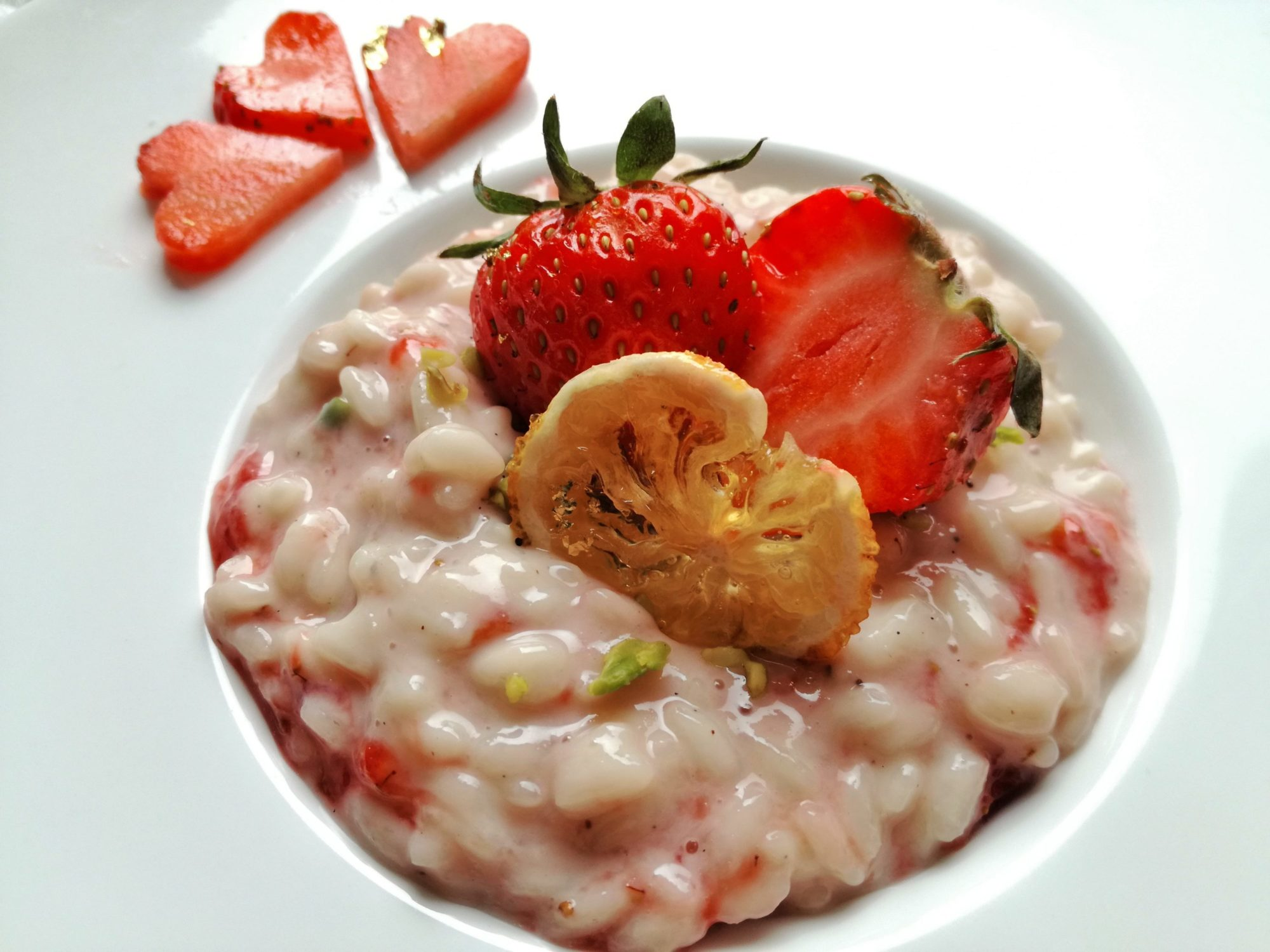 Risotto dolce alle fragole