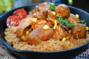 red rice pollo