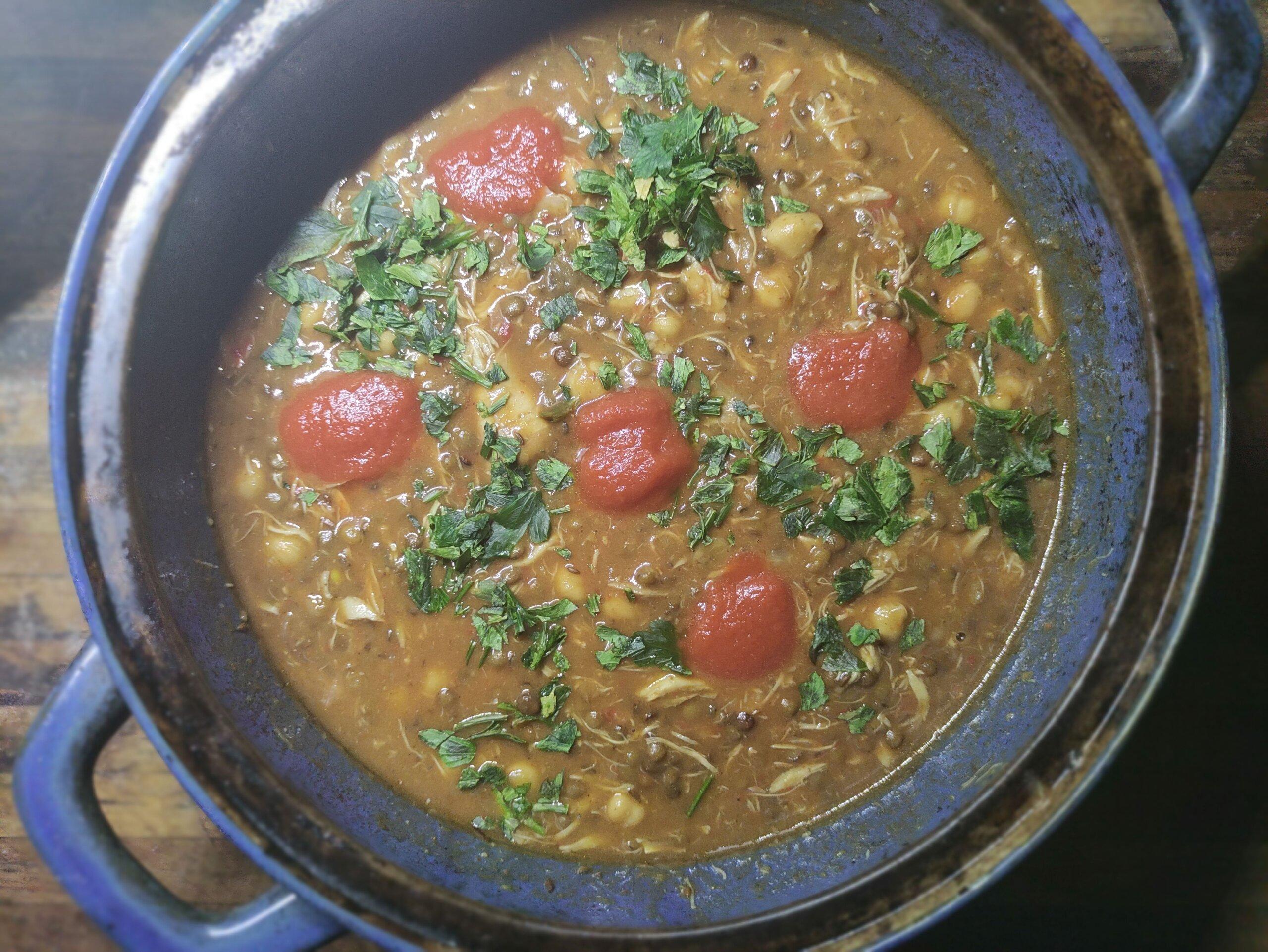 Harira – la zuppa di agnello, ceci e lenticchie