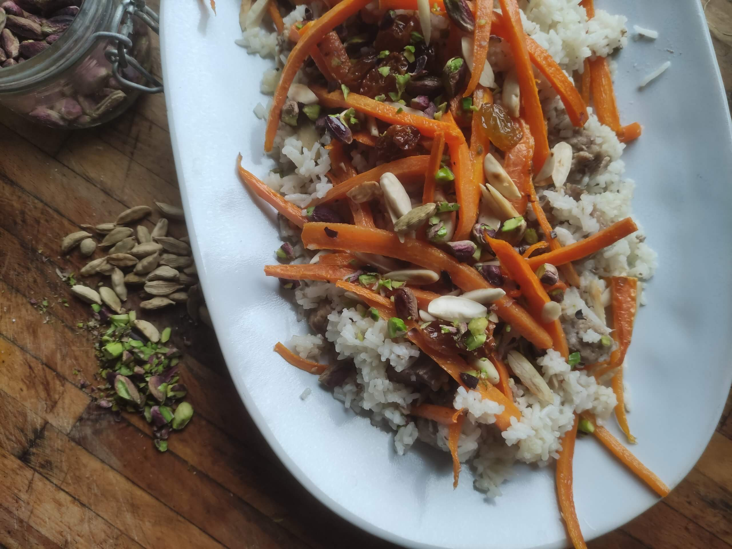 Kabuli Palaw – Pilaf di riso con carote e uvetta